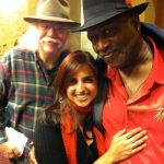 Glenn, Board Member Simmy Makhijani and the Great Maestro hisself, Taj Mahal backstage at the Freight & Salvage.